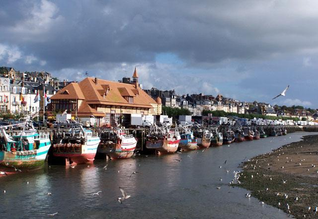 Trouville fishing port